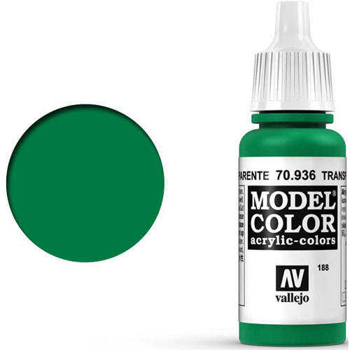 Vallejo Model Color Paint: Transparent Green