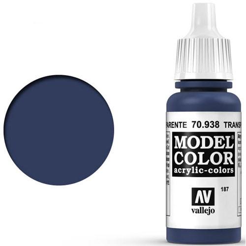 Vallejo Model Color Paint: Transparent Blue