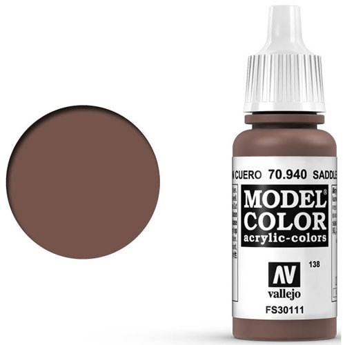 Vallejo Model Color Paint: Saddle Brown