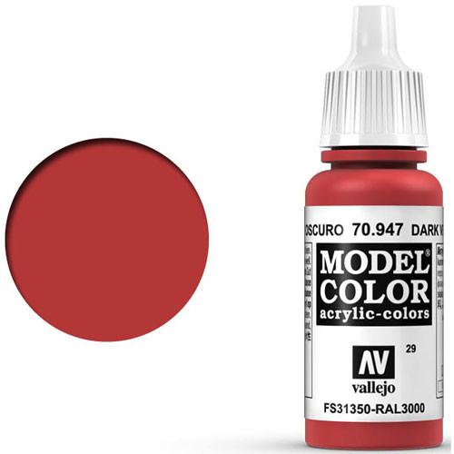 Vallejo Model Color Paint: Dark Vermilion