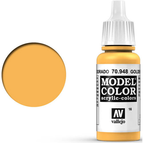 Vallejo Model Color Paint: Golden Yellow