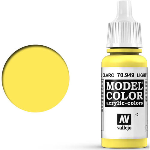 Vallejo Model Color Paint: Light Yellow