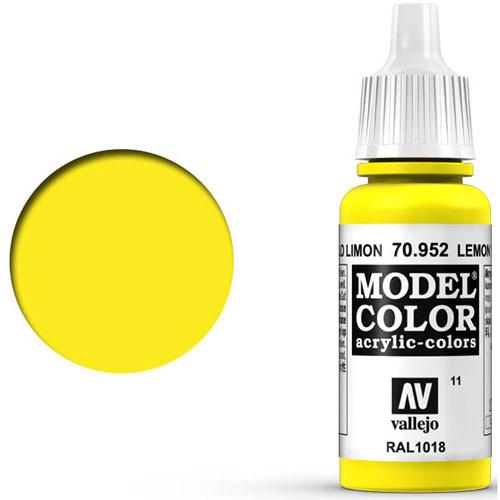 Vallejo Model Color Paint: Lemon Yellow