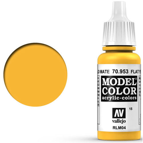 Vallejo Model Color Paint: Flat Yellow