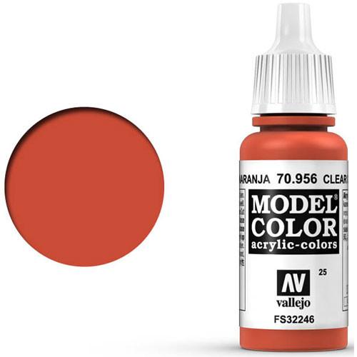 Vallejo Model Color Paint: Clear Orange