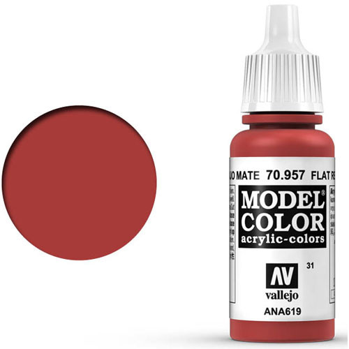 Vallejo Model Color Paint: Flat Red