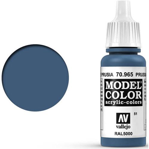 Vallejo Model Color Paint: Prussian Blue
