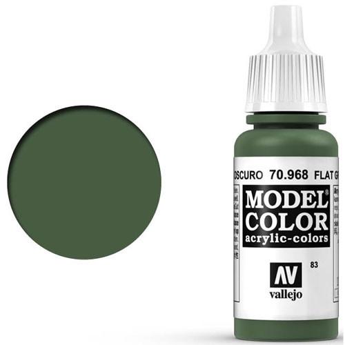 Vallejo Model Color Paint: Flat Green