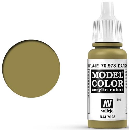 Vallejo Model Color Paint: Dark Yellow