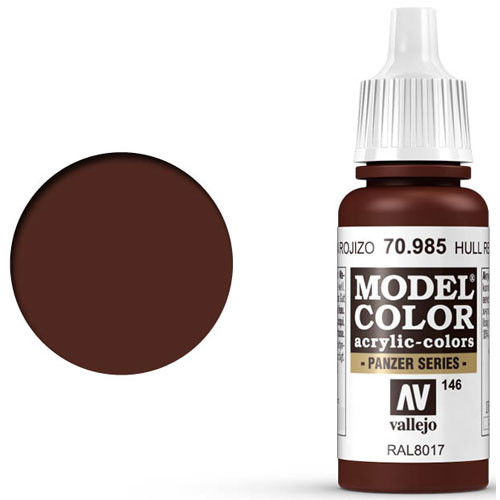 Vallejo Model Color Paint: Hull Red
