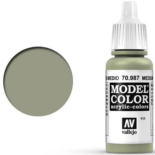 Vallejo Model Color Paint: Medium Grey