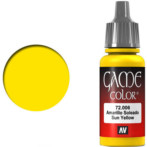Vallejo Game Color: Sun Yellow (17ml)