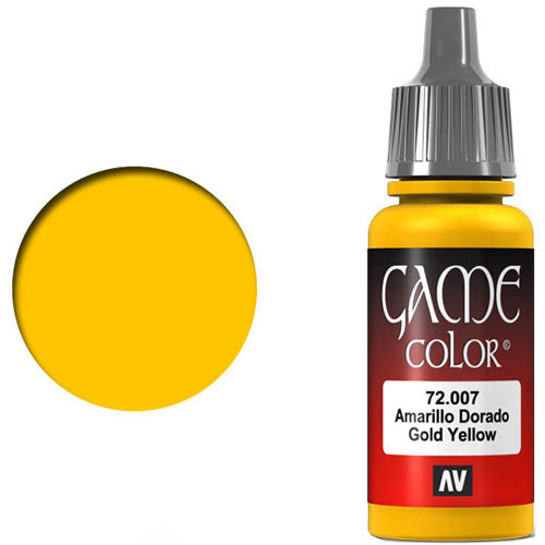 Vallejo Game Color: Gold Yellow (17ml)