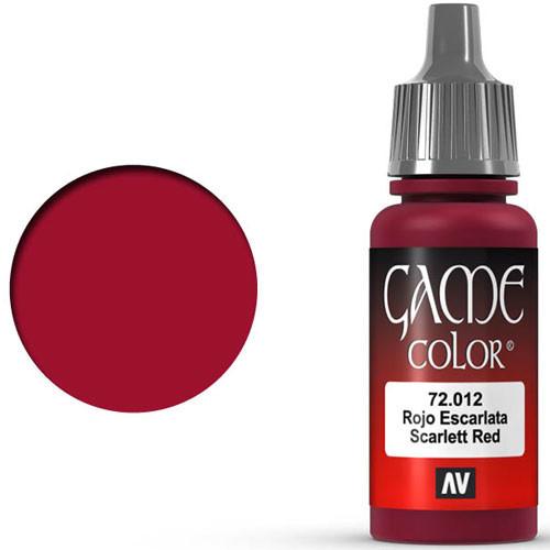 Vallejo Game Color: Scarlet Red (17ml)