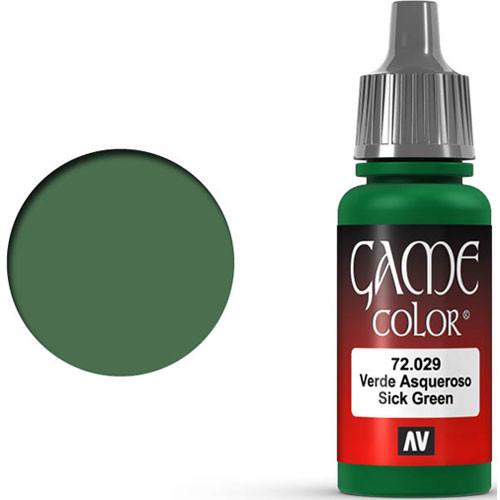Vallejo Game Color: Sick Green (17ml)