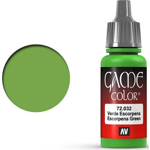 Vallejo Game Color: Scorpy Green (17ml)
