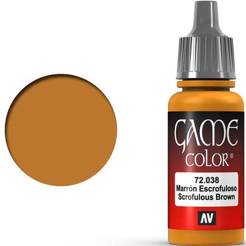 Vallejo Game Color: Scrofulous Brown (17ml)