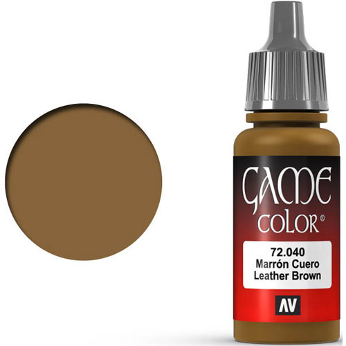 Vallejo Game Color: Leather Brown (17ml)