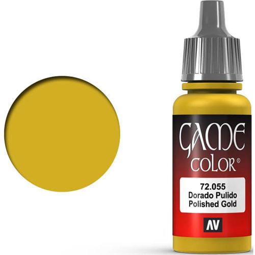 Vallejo Game Color: Polished Gold (17ml)