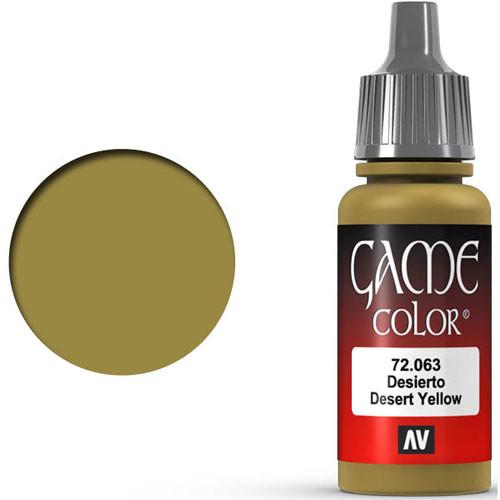 Vallejo Game Color: Desert Yellow (17ml)