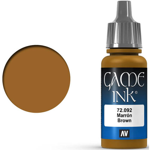 Vallejo Game Color: Brown Ink (17ml)