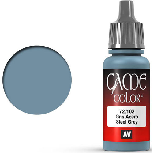 Vallejo Game Color: Steel Grey (17ml)