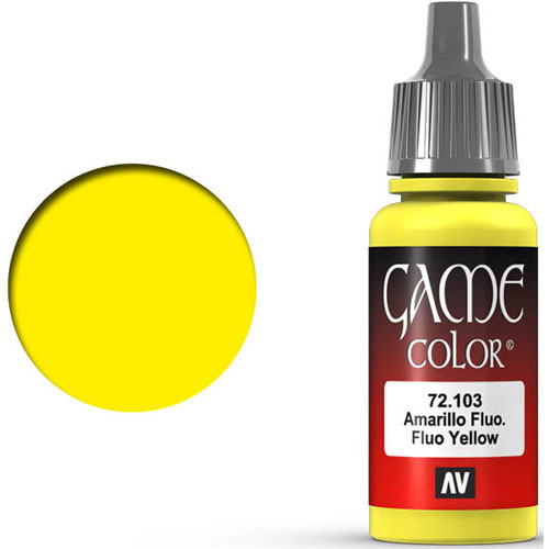 Vallejo Game Color: Fluorescent Yellow (17ml)