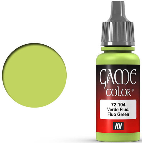 Vallejo Game Color: Fluorescent Green (17ml)