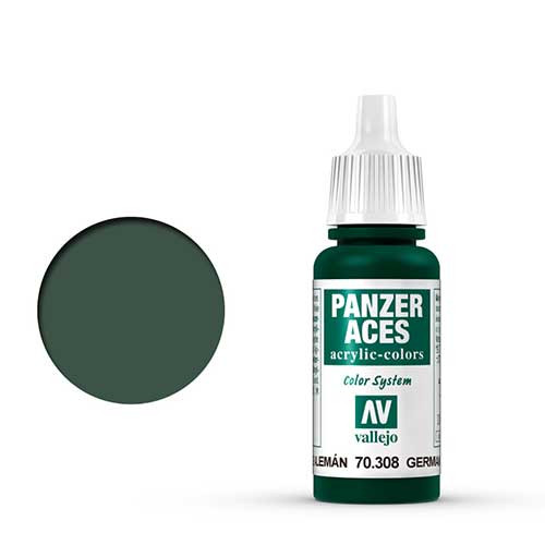 Vallejo Panzer Aces Paint #308 Green Tail Light