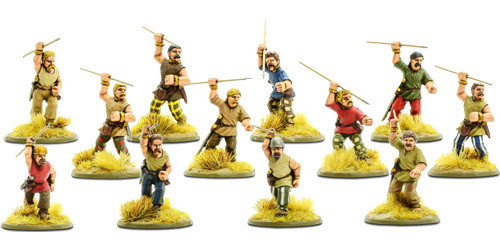 SPQR: Gaul - Tribesmen with Javelins | Table Top Miniatures