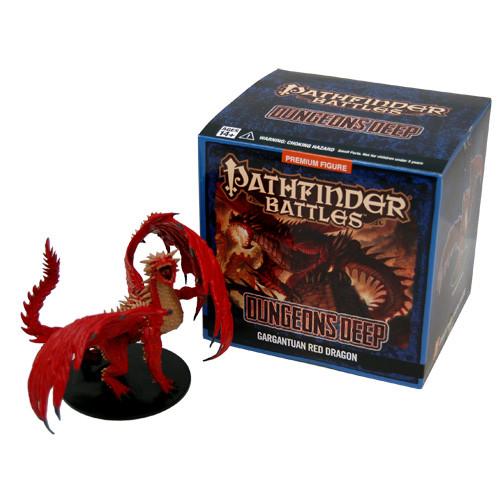 Pathfinder Battles: Dungeons Deep - Gargantuan Red Dragon Promo