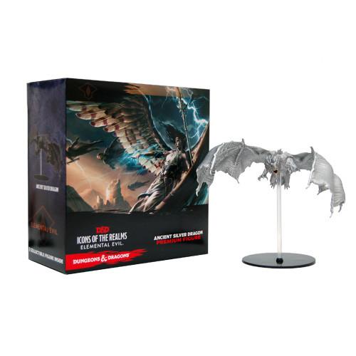 D&D: Elemental Evil - Silver Dragon Premium Figure