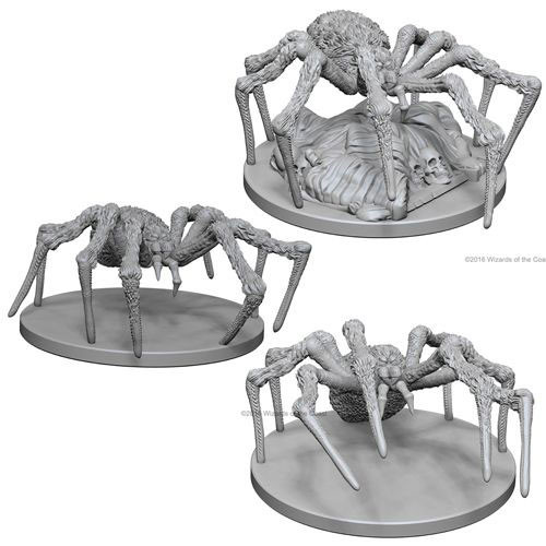D&D Nolzur's Marvelous Unpainted Miniatures: Spiders (3)