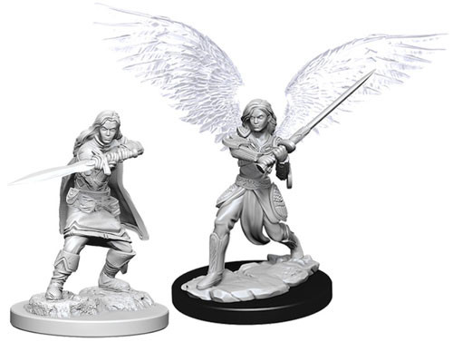 D&D Nolzur's Marvelous Miniatures: Female Aasimar Fighters (2)