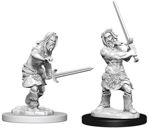 Pathfinder Deep Cuts Unpainted Minis: W6 Male Human Barbarian