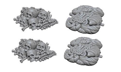 WizKids Deep Cuts Unpainted Minis: W6 Pile of Bones & Entrails