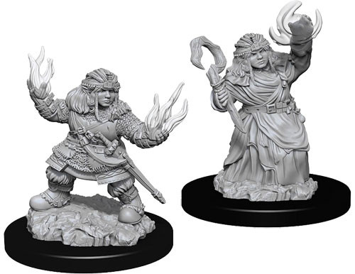 Pathfinder Deep Cuts Unpainted Minis: W7 Female Dwarf Summoner