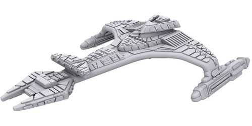Star Trek Deep Cuts Unpainted Ships: Vor'Cha Class