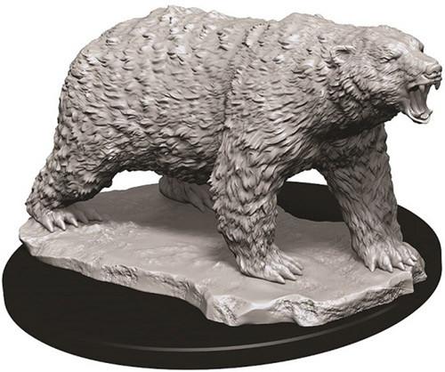 WizKids Deep Cuts Unpainted Miniatures: Polar Bear (1)