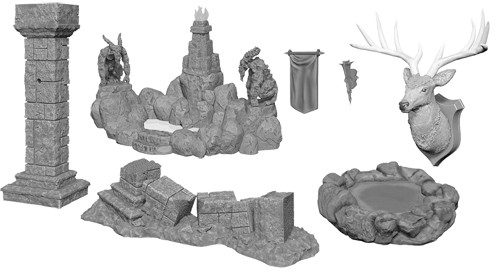 Wizkids Deep Cuts Unpainted Miniatures: W11 Pools & Pillars