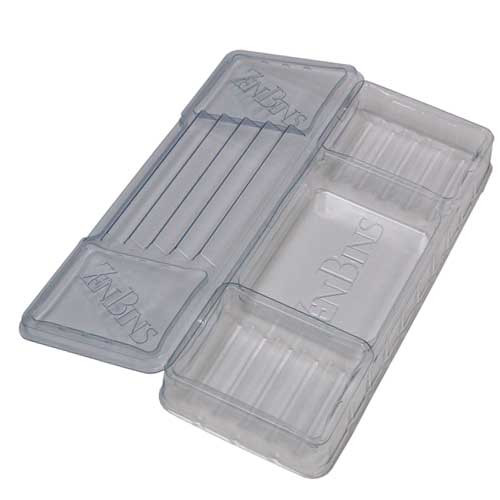 Zen Bins: Dice and Game Storage - Lid/Base Pack (Clear)