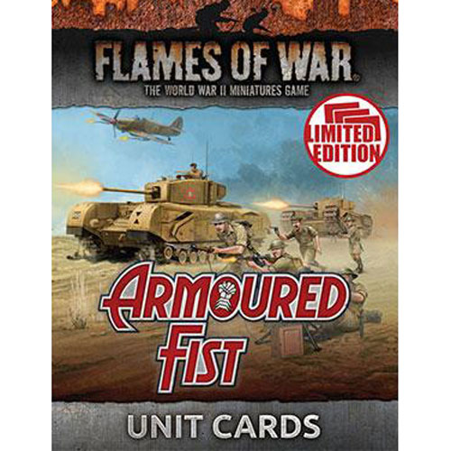 Flames Of War England Armoured Fist Unit Cards New