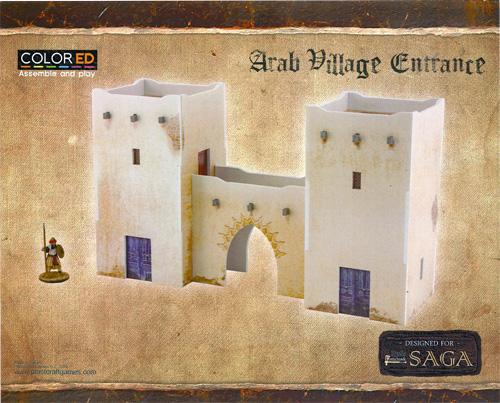Plast Craft Colored: Saga - Desert Building Set (28mm