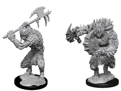 Gnolls B Fantasy Miniature Warhammer D/&D Tabletop Game RPG