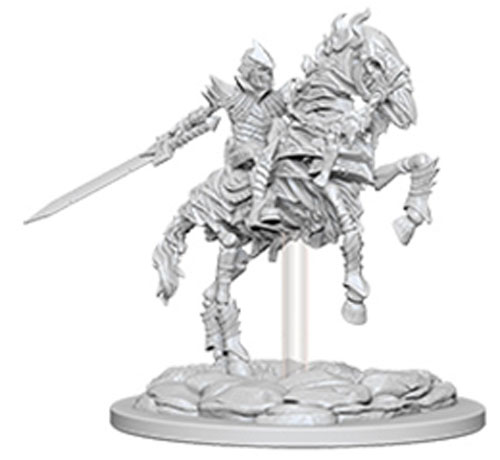 Knight On Horse WZK73358 Unpainted Miniatures Pathfinder Deep Cuts Wave 5
