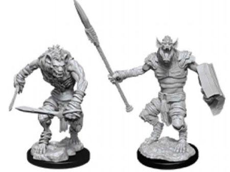 D/&D Unpainted Minis Wv1 Gnolls NEW miniatures Dungeons /& Dragons DND